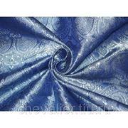 Шелк темно-голубой фото