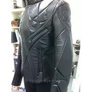 Дизайнерская куртка в русском стиле (доспехи) из натуральной кожи. фото