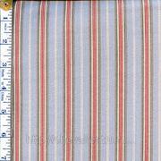Голубая ткань с белыми красными полосами фото