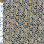 Серая-голубая с желтыми пейсли фото