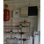 Монтаж регулятора СalorMATIC VRC 630/3 с электрообвязкой котельной фото