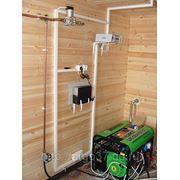 Резервная схема энергообеспечения загородного дома. фото
