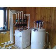 Монтаж систем отопления дома(монтаж котельной) фото