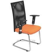 Конференц Тrend СF/CH кожзам оранжевый, сетка черная, 449534 фото