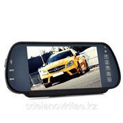 Зеркало заднего вида с монитором и MP4 Player - 7 дюймов, Громкая связь, Bluetooth фото