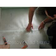 Устройство полов со сложным орнаментом из керамических плиток. фото