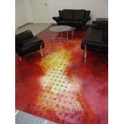Декоративные наливные полы в офисе фото