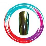 Dona Jerdona 10070 Зеркальная пудра, зеленый-золотой (1 гр.) фото