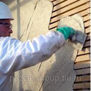 Штукатурка деревянных стен с предварительной Обивкой дранкой или сеткой слоем до 3-х см фото