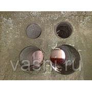Пробивка отверстий в бетонных стенах и полах толщиной 100 мм площадью: до 20 см2 фото