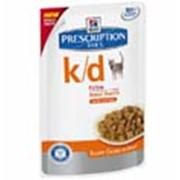Корм для котов Hill's Prescription Diet k/d паучи для кошек с почечной недостаточностью с курицей 85 гр фото