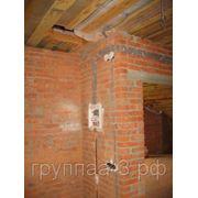 Штробление стены подпроводку 20x20 мм. 8 кирпиче