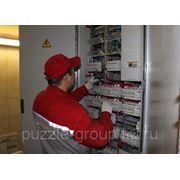 Установка щита электрического накладного