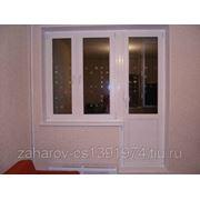 Пластиковые окна REHAU в спальню (балконный блок). фото