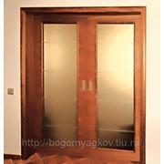 Установка двери межкомнатной двупольной фото