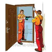 Установка металлической двери фото