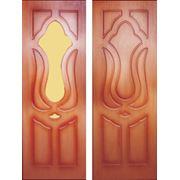 «Лилия» Нестандартные двери от производителя шпонированные фото