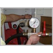 Испытание внутреннего пожарного водопровода фото