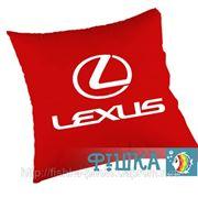 Подушка с логотипом Lexus фото