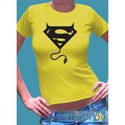 """Женская футболка с рисунком """"Суперчертик"""" фото"""
