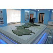 Макет Карта-схема газотранспортной системы респ. фото