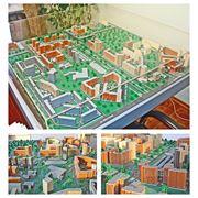 Архитектурный макет жилого микрорайона фото