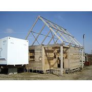 Дачный домик с крыльцом 6х3 фото