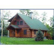 Дом из рубленного бревна (лиственница) фото
