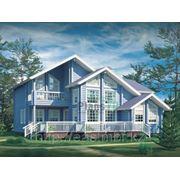 270,2 кв.м. деревянный дом из клеенного бруса. Бани, беседки, срубы. Строительство. Проектирование. фото