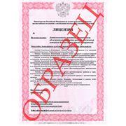 Лицензия МЧС России (Пожарная лицензия) фото