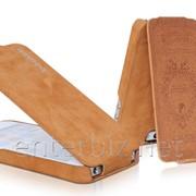 Чехол Borofone for iPhone 5/5S Shark Flip Leather case Brown (BI-L026BR), код 47403 фото