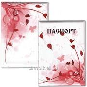 Обложка для паспорта Красные лепестки Артикул: 038005обл003 фото