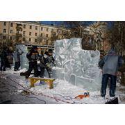 Ледяные скульптуры к Новому году фото