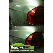 Удаление вмятины на крыле автомобиля - BMW 3 фото