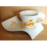 Нанесение логотипа, фото на посуду, плитку от производителя