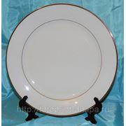 Фото на тарелке Кайма золотой ободок, 30 см фото