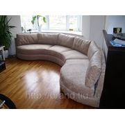 Полукруглый диван на заказ фото