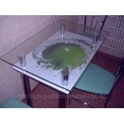 Стеклянный обеденный стол №1 фото