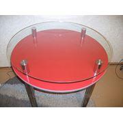 Круглый стеклянный стол №59