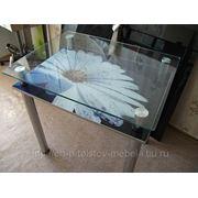 Стеклянный обеденный стол с фото№37 фото