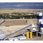 Завод бетонный стационарный GBS 100 фото