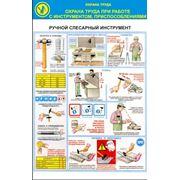 Стенд по охране труда «Правила безопасности при работе с ручным инструментом» фото