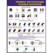 Комплект стендов по охране труда «Правила эксплуатации газовых баллонов» фото
