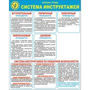 """Стенд по охране труда «система инструктажей"""" фото"""