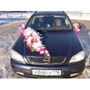 Прокат свадебных украшений и колец на автомобиль фото