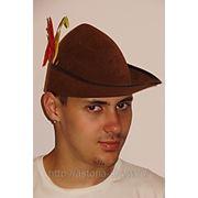 Шляпа Робин Гуд/ охотник фото