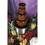 Прокат 4-ярусного шоколадного фонтана высотой 60 см фото