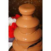 Прокат 4-ярусного шоколадного фонтана высотой 45 см фото