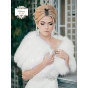 Свадебная накидка из песца напрокат weddingfur.ru фото