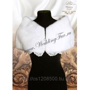 Прокат свадебной накидки из норки для невесты. Wedding Fur фото